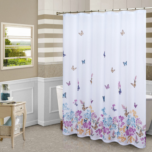 United Curtain Co. Butterfly Shower Curtain