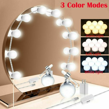 Make Up Mirror Lights 10led Hollywood Kit Bulbs Wall Vanity Light Dimmable