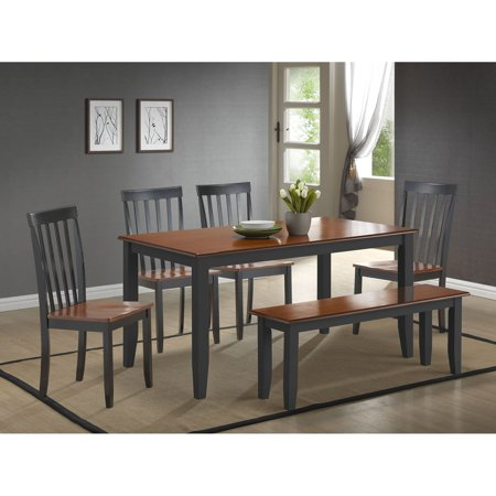 7f4502848 Boraam Bloomington 6 Piece Dining Table Set - Walmart.com