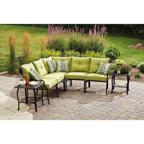 Better Homes and Gardens Hillcrest 7-Piece Outdoor Sectional Sofa Set, Seats 5