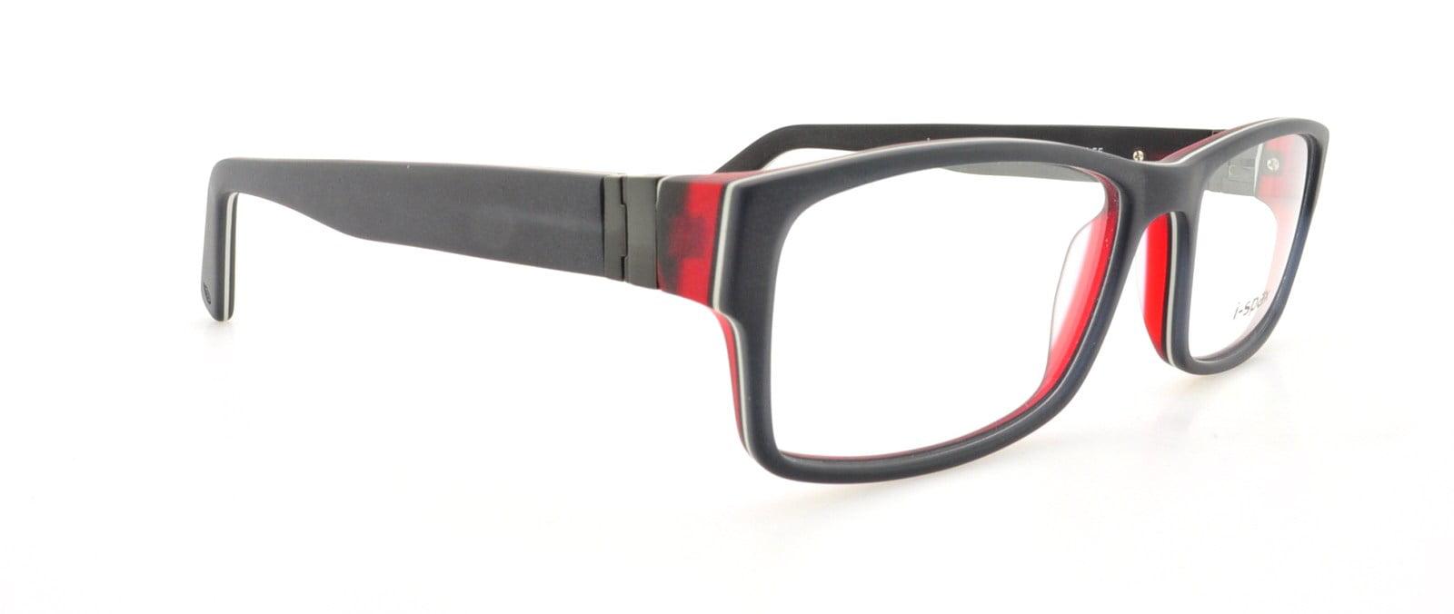 I-SPAX Eyeglasses JERRY 55 Black Wine 53MM - Walmart.com
