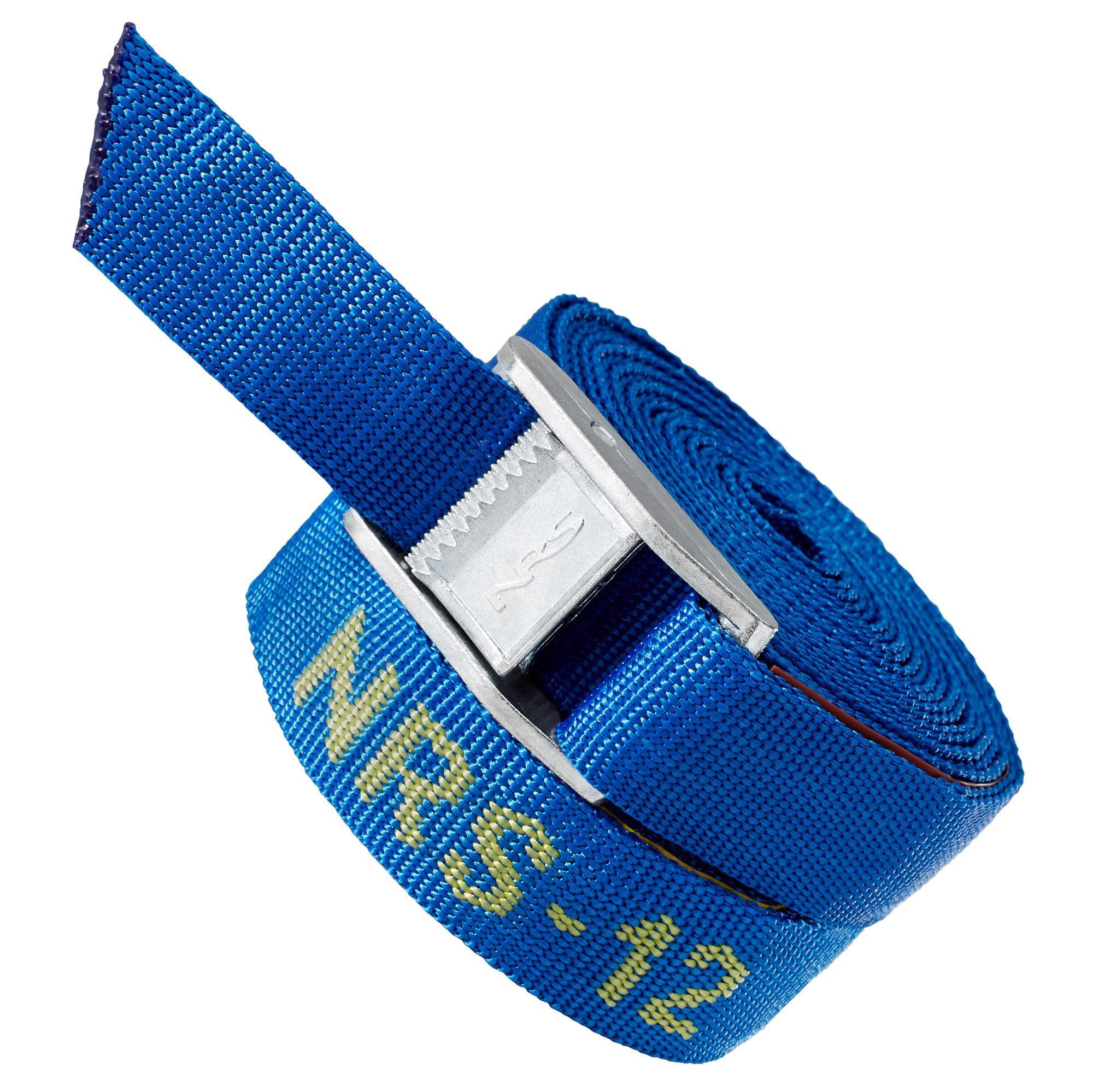 """NRS Single 1"""" Long Heavy Duty Tie Down Boating & Kayaking Strap, Blue (12 Feet) - image 1 de 5"""