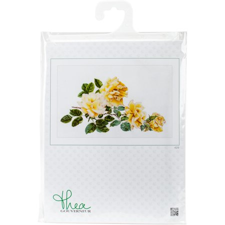 """Peace Rose On Aida Counted Cross Stitch Kit-17.25""""X25.5"""" 18 Count - image 1 de 1"""