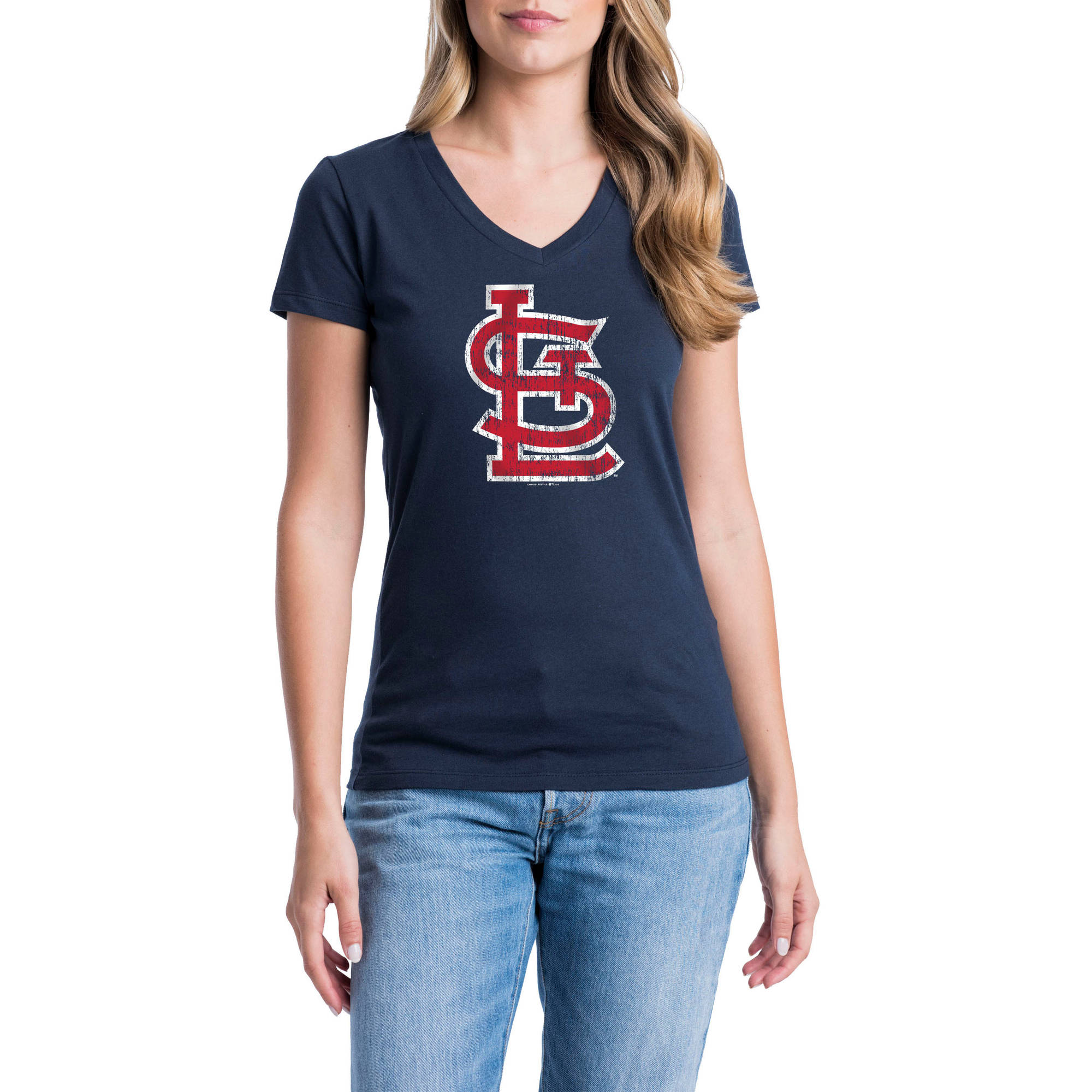 St. Louis Cardinals Womens Short Sleeve Graphic Tee