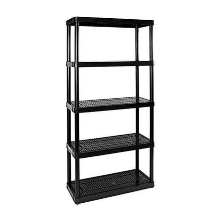 Gracious Living Medium Duty Non Adjustable Ventilated Storage Shelving, 5 Shelf ()