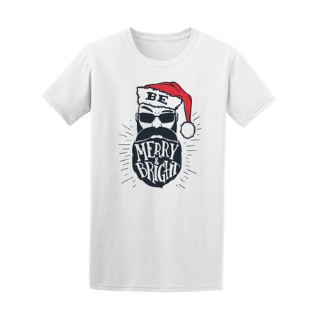 Be Merry & Bright Hipster Santa Tee Men's -Image by Shutterstock ()