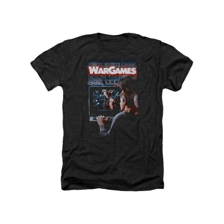 Wargames Classic 1983 Film Movie Theatrical Poster Adult Heather T-Shirt Tee (Classic Adult Movies)