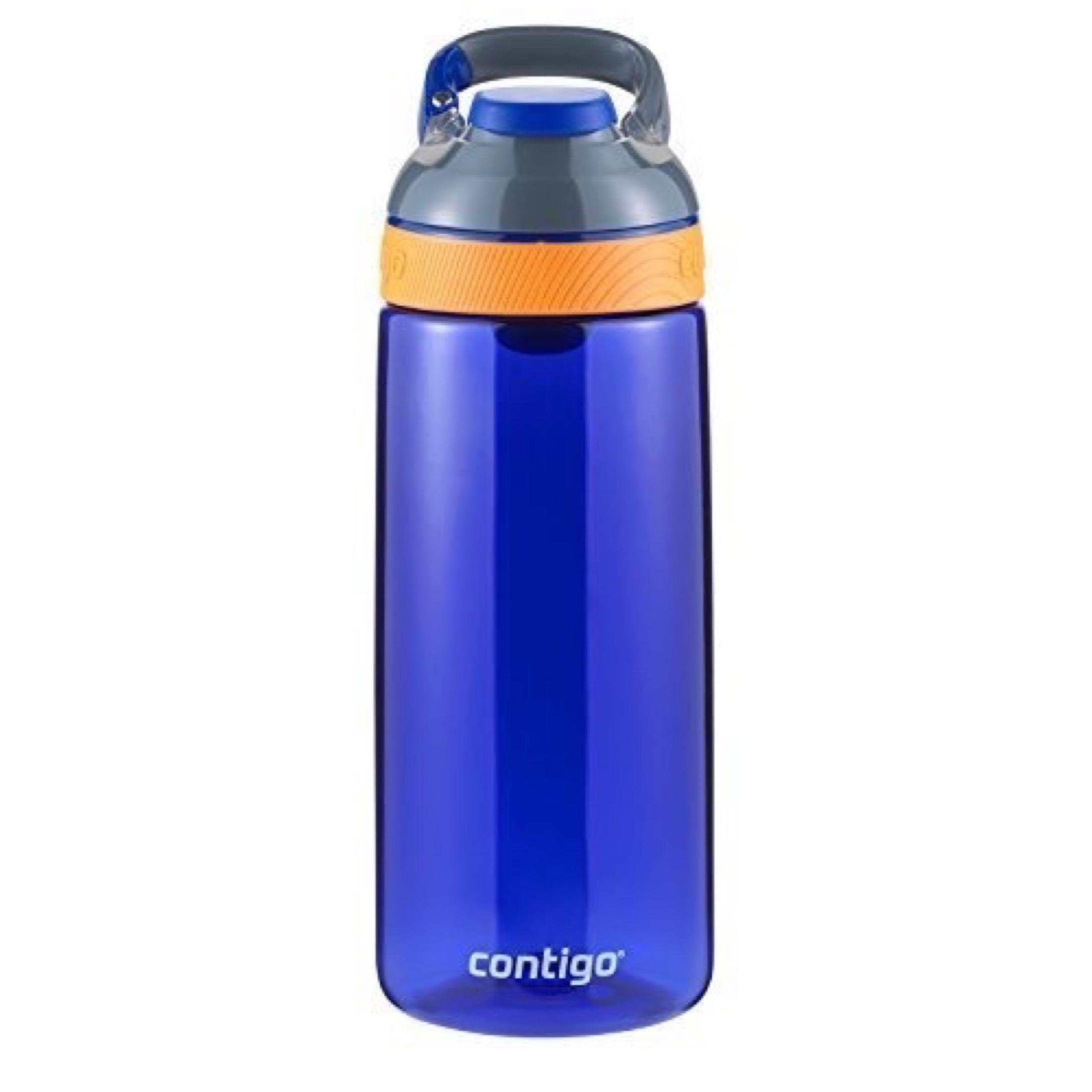 Kids 3 x Contigo Spill-Proof Water Drinks Bottles Bpa Free New 2020 blues