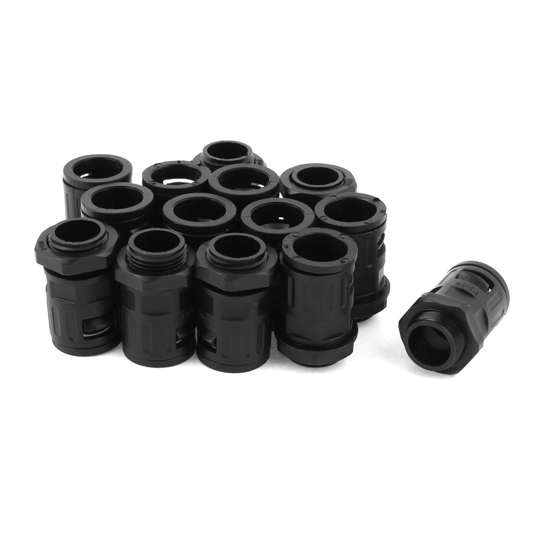 Unique Bargains AD15.8 Corrugated Conduit PG11 18mm Thread Quick Connector Pipe Fitting 14Pcs