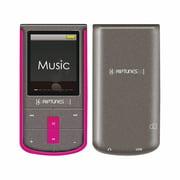 RIPTUNES MP-1898P 8 GB Pink, Sparkling Gray Flash Portable Media Player (mp1898p)