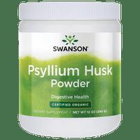 Swanson Psyllium Husk Powder - Certified Organic 12 oz Pwdr