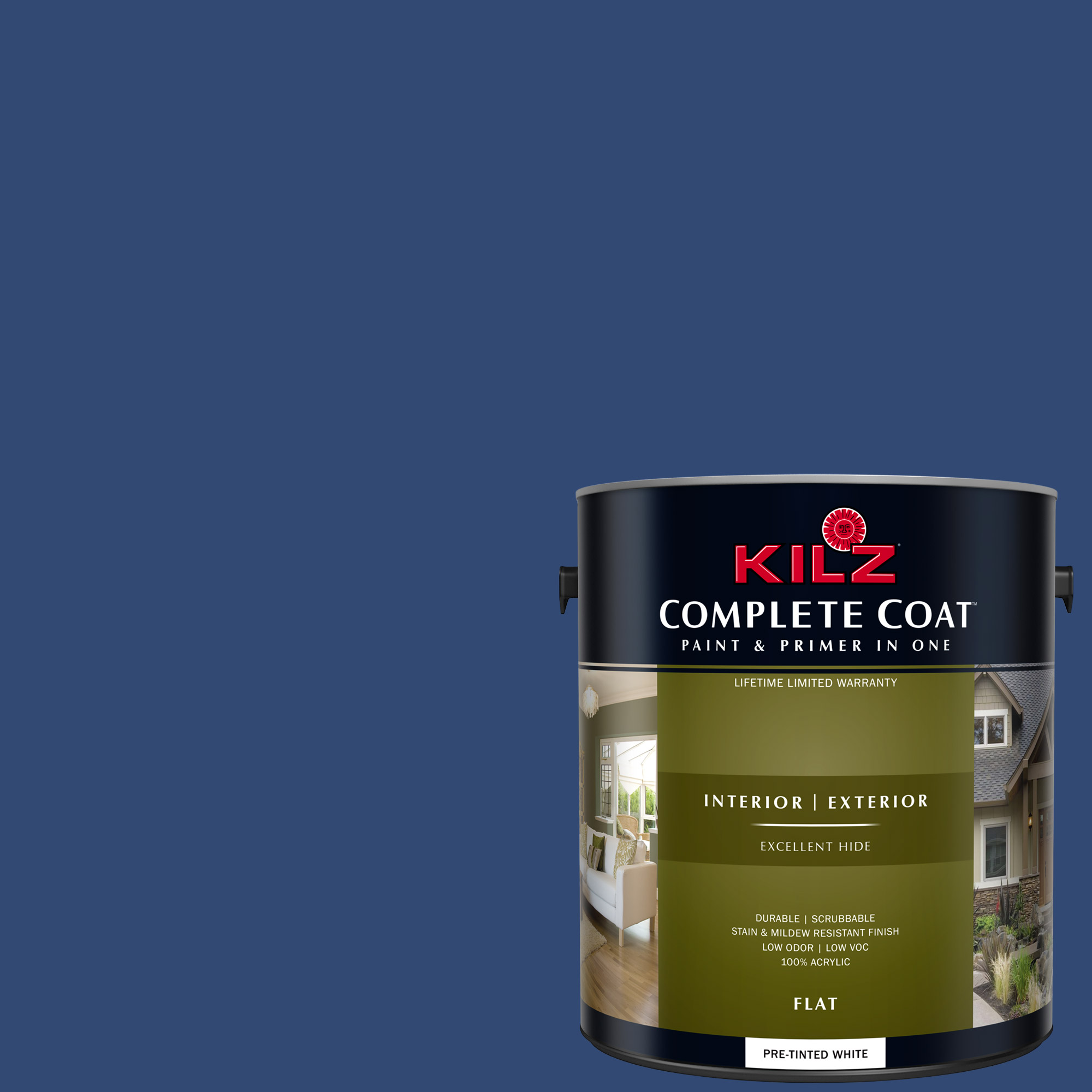 ... KILZ COMPLETE COAT Interior/Exterior Paint u0026 Primer in One #RH220 Indigo & KILZ COMPLETE COAT Interior/Exterior Paint u0026 Primer in One #RH220 ...