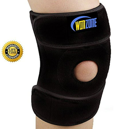 Knee Brace Support For Arthritis, ACL, Running, Basketball, Meniscus Tear, Sports, Athletic. Open Patella Protector Wrap, Neoprene, Non-Bulky, Relieves Pain,, Best Braces by (Best Treatment For Arthritis Knee Pain)