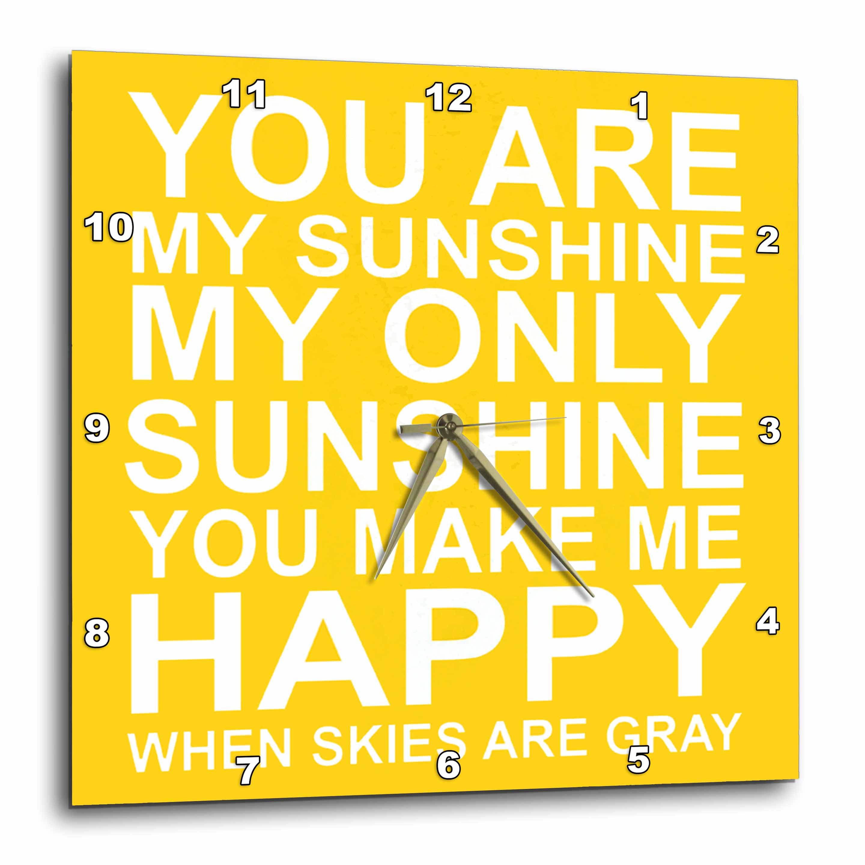 3dRose You are my sunshine., Wall Clock, 10 by 10-inch
