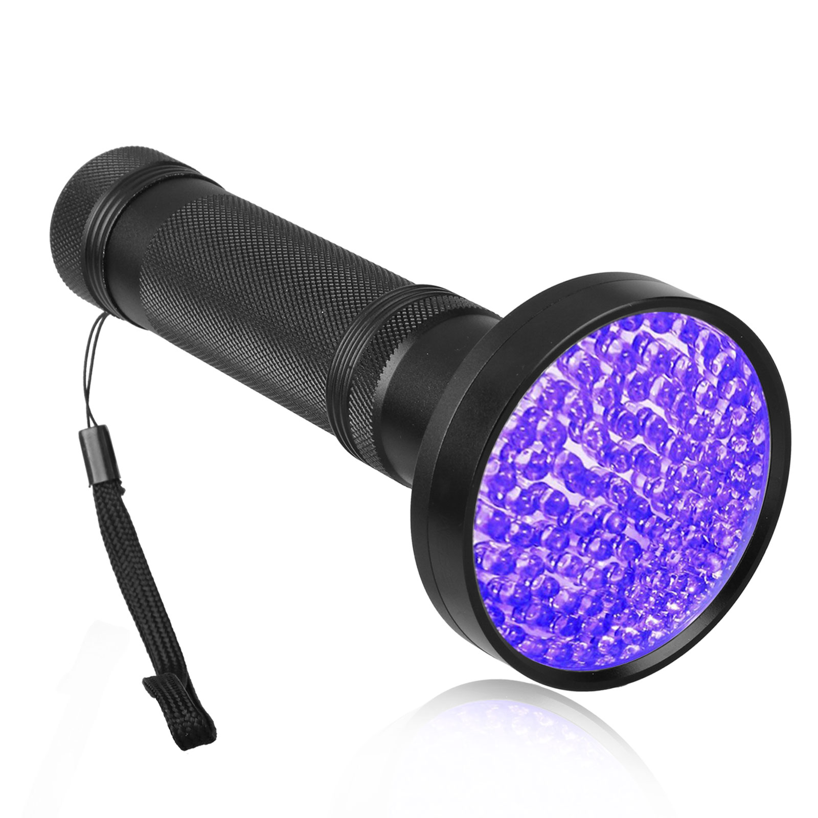 100 LEDs UV UltraViolet Blacklight Flashlight Lamp for Urine Detection, Finding Scorpions, Bed Bugs and Dog & Cat Pee, 385-395nm