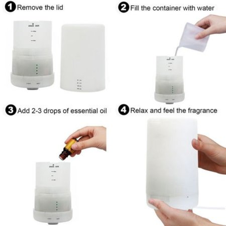 AU LED Ultrasonic Aroma Essential Diffuser Air Humidifier Purifier Aromatherapy - image 1 de 5