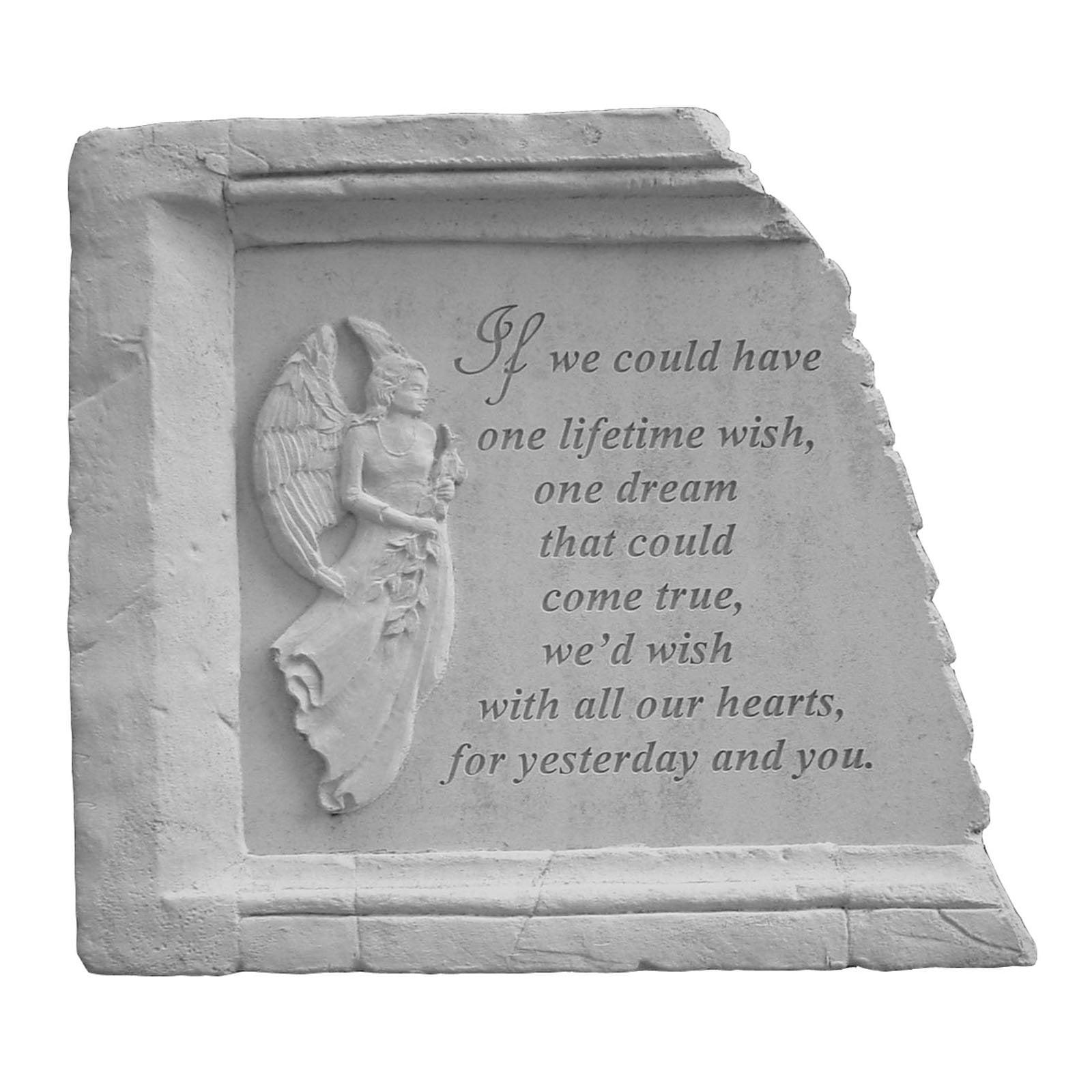 Lifetime Wish Framed Memorial Garden Stone
