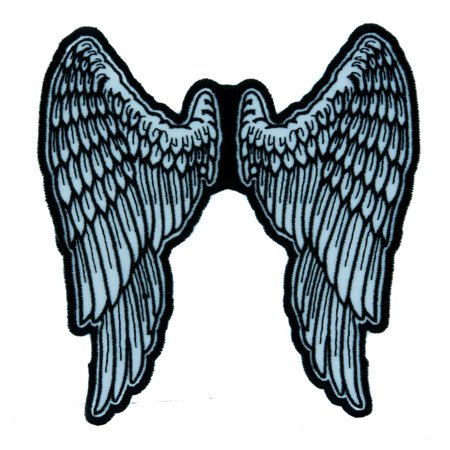 Wig Iron - The Walking Dead Daryl Angel Wings Patch Iron on Applique Alternative Clothing Biker Gang