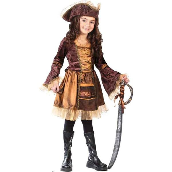 Childs Sassy Victorian Pirate Costume by