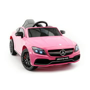 MERCEDES C63S 12V BATTERY POWERED KIDS RIDE-ON TOY CAR WITH R/C PARENTAL REMOTE MP3   PINK