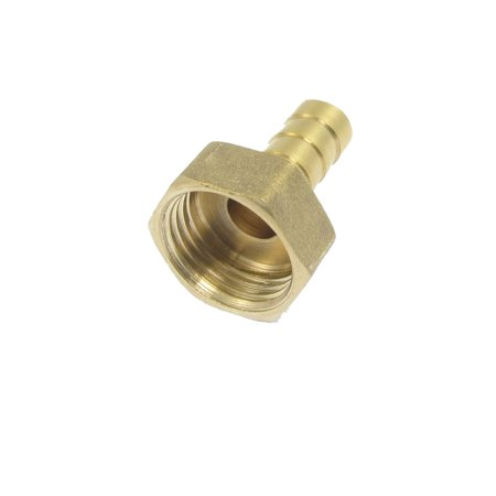"Unique Bargains 1/2"" Male Thread 10mm Air Water Fuel Hose Brass Barb Fitting Adapter"