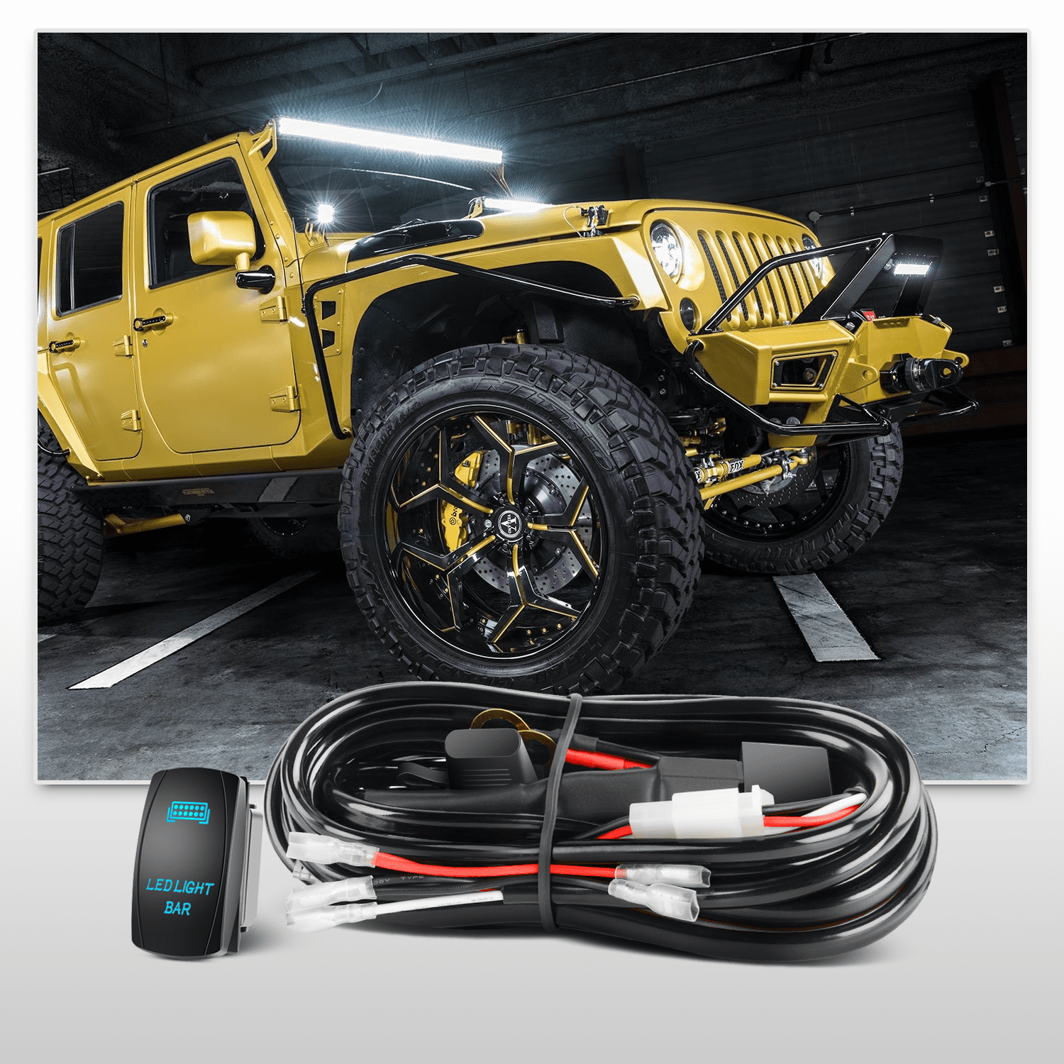 LED Light Bar Nilight 32 Inch 180W Black Curved Work Light Bar Combo Offroad Lighting with Wiring Harness Kit, 2 Year Warranty