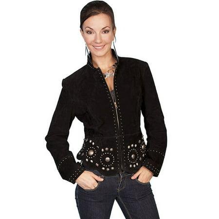 Women's Scully Boar Suede Jacket L191 (Boar Suede Leather Coat)