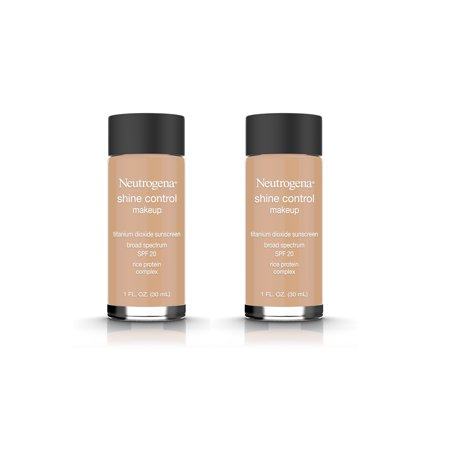 (2 Pack) Neutrogena Shine Control Liquid Makeup Broad Spectrum Spf 20, Fresh Beige 70, 1 Oz.