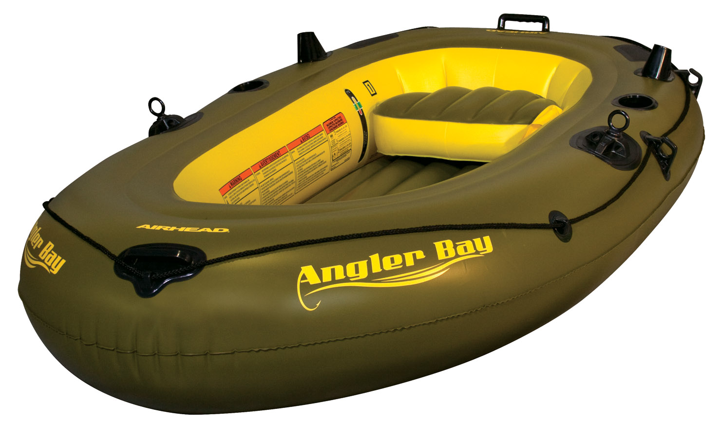 ANGLER BAY Inflatable Boat, 3 person by AIRHEAD SPORTS GROUP