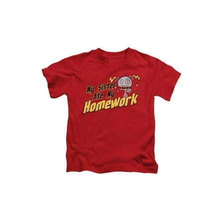 My Sister Ate My Homework Zombie Sister Little Boys T-Shirt](Little Boy Zombie)