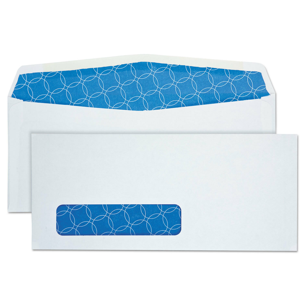 Quality Park Tinted Window Envelope #10 4 1//8 x 9 1//2 White 500//Box 90119