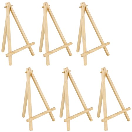 6 pack of us art supply 8 mini wood display easel natural wood