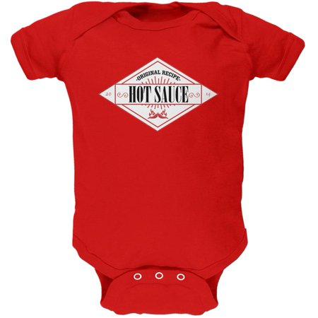Franks Red Hot Halloween Costume (Halloween Hot Sauce Costume Red Soft Baby One Piece - 9-12)