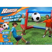 Banzai Mega All-Star Soccer Set with Inflatable Soccer Goal Net and Ball