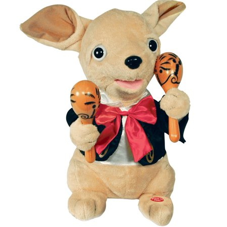 Mills Chuey Bamba Singing Chihuahua With Maracas, Adorable animated chihuahua puppy dog By Mills Cuddle