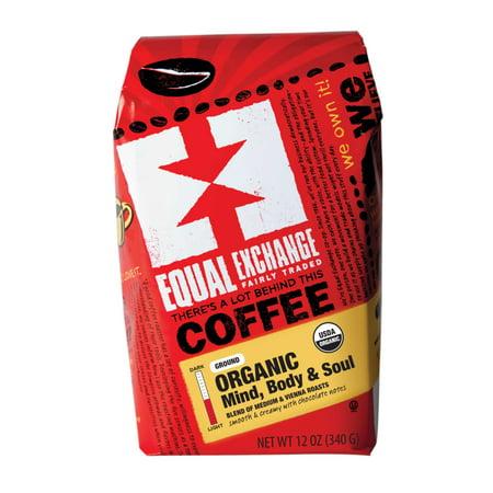 Equal Exchange Organic Mind, Body & Soul Ground Coffee, 12 (12 Ounce Ribeye Steak)