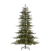 Gerson 7.5Ft. Natural Cut Layered Timberland Pine with 500 Warm White LED Micro Lights
