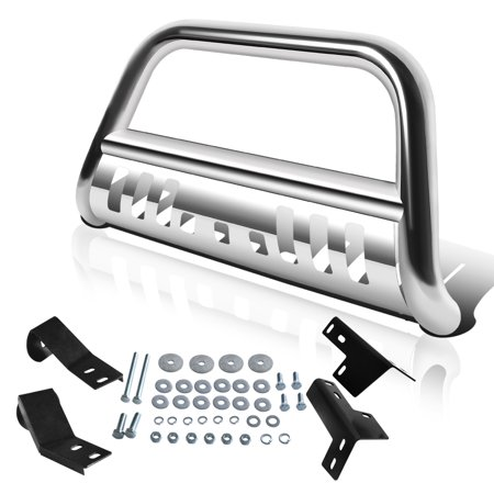 Yitamotor 2005-2015 Toyota Tacoma Truck Chrome Stainless Bull Bar Brush Front Bumper Grille Guard