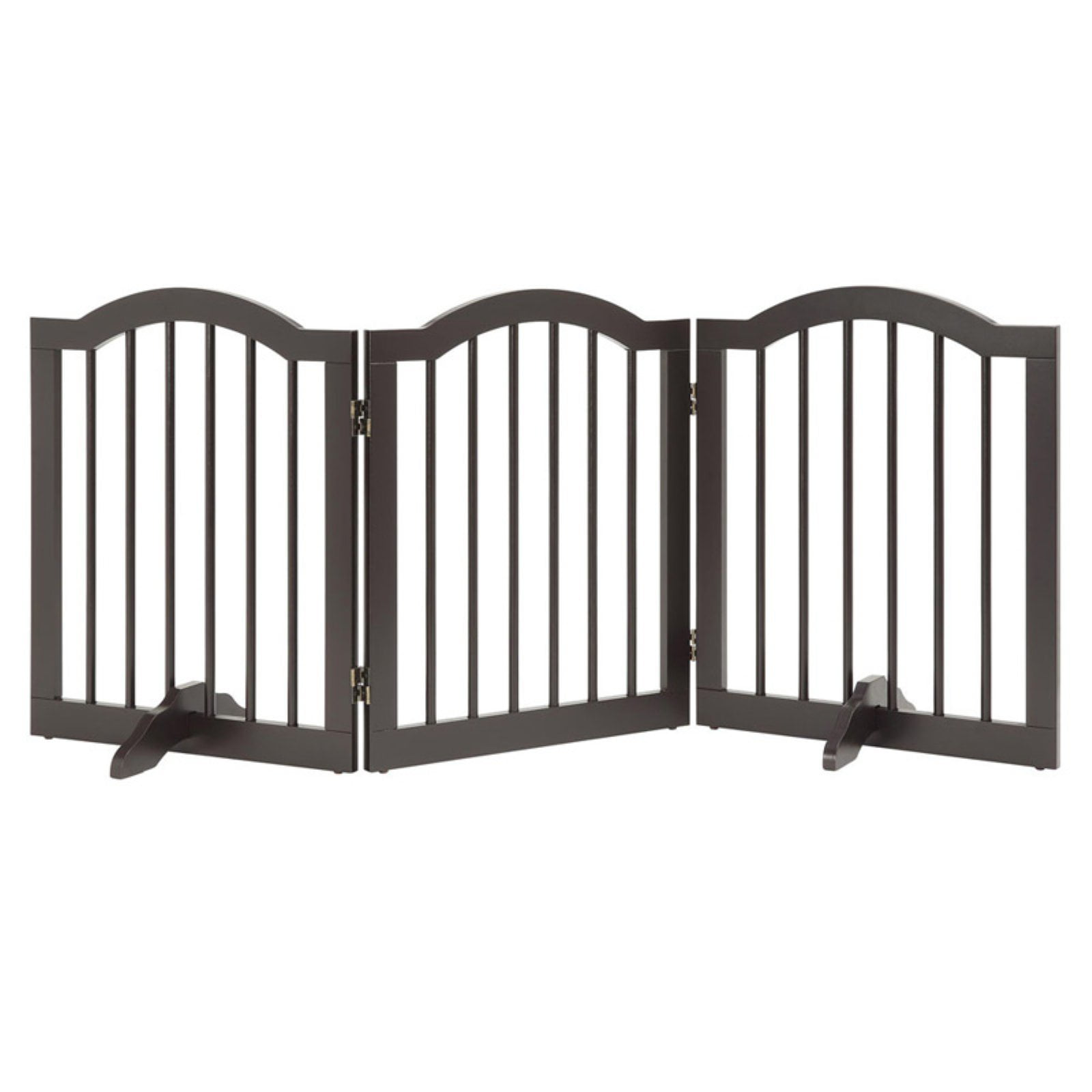 Unipaws Freestanding Wooden Dog Gate Foldable Pet Gate