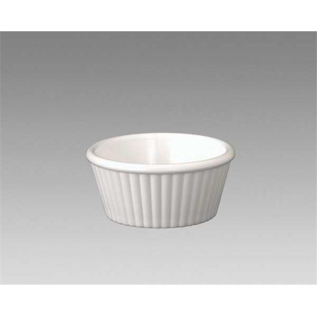 Gessner Products IW-0361A-WH 2 oz. Fluted Ramekin- Case of 12 by Gessner Products Co., Inc.