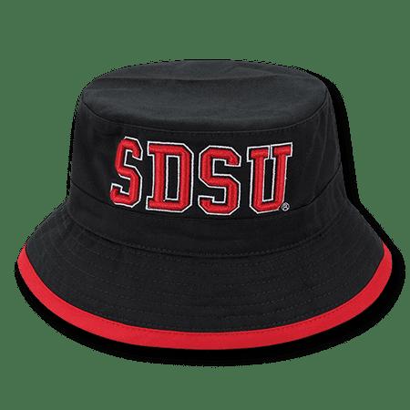 NCAA San Diego State University College Bucket Caps (University Buckle)