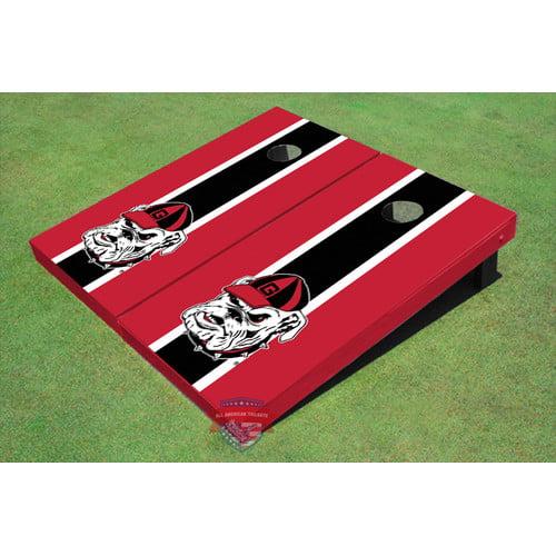 All American Tailgate NCAA ''Hairy Dawg'' Long Stripe Cornhole Board (Set of 2)