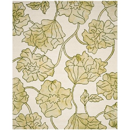 "Safavieh Dip Dye 2'3"" X 8' Hand Tufted Rug in Ivory and Light Green - image 7 de 10"