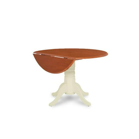 M&D Furniture BUT-BCH-TP 42 in. dia. x 30 in. Burlington Round Dining Table with Two 9 in. Drop Leaves, Buttermilk Cherry](Party Store In Burlington Ma)