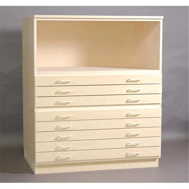SMI 2436-3DB-SDG 3 Drawers Birch Plan File With Steel Drawer Guide
