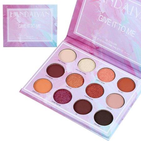 HANDAIYAN 12 Colors Eye Shadow Makeup Pearl Metallic Eyeshadow Palette (Pearl Eye Color)