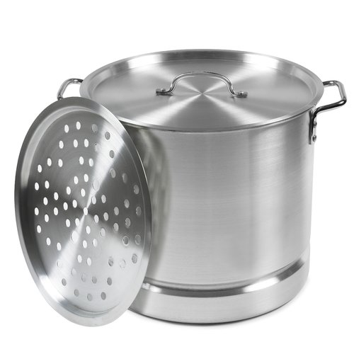 IMUSA MEXICANA-24 Tamale and Seafood Steamer, 12-Qt., Silver