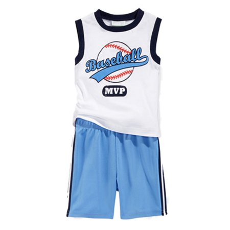 First Impressions Infant Boys 2 Piece Baseball Mvp Tank Top   Mesh Shorts
