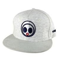 562ea36a Product Image Classic Caprobot Face Logo Jersey Knit Baseball Hat Snapback  Cap - Heather Grey Creamy Sudue Visor