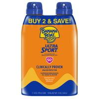Banana Boat Ultra Sport Sunscreen C-spray SPF 50+, 12 oz Twin Pack